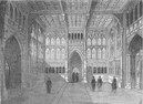 ROYAL PALACE OF WESTMINSTER. The lobby of the House of Commons. London c1880
